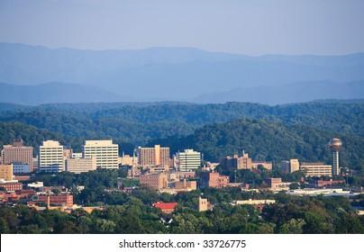 Knoxville skyline.