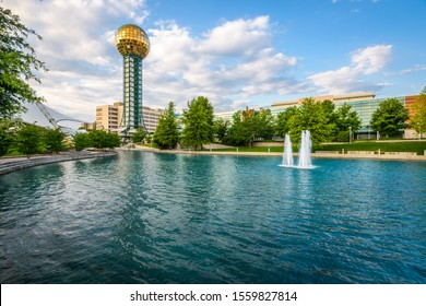 KNOXVILLE, TENNESEEE, USA - JUNE 13, 2013: The Sunsphere at World's Fair park in downtown Knoxville.