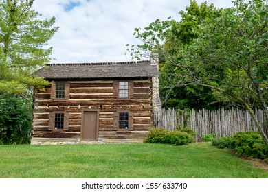 Knoxville, Tennessee - August 22, 2015: James White's Fort was established in 1791. Now a museum, its centerpiece is the original 1786 residence of James White, the founder of Knoxville.
