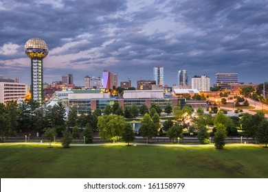 Knoxville, Tennessee downtown skyline.