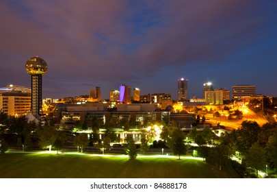 Knoxville, Tennessee at night