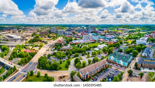 Knoxville, Tennessee, USA Downtown Skyline Aerial.