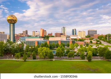 Knoxville, Tennessee, USA downtown skyline and tower.