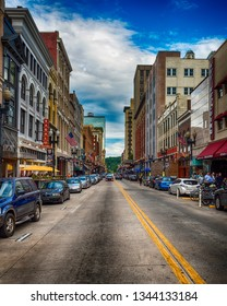KNOXVILLE, TN - JUNE 16: Scenes from historic Gay Street in Knoxville, TN, on June 16, 2017. Gay Street has served as the city's principal financial and commercial thoroughfare since the 1790s.
