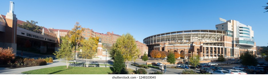 Knoxville, TN - Nov 21, 2018: historic landmark buildings at University of Tennessee, Knoxville, Tennessee