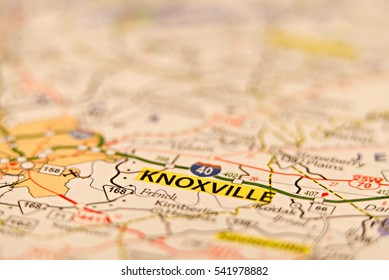 knoxville tn usa area map