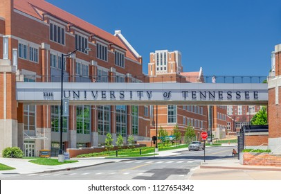 KNOXVILLE, TN/USA JUNE 4, 2018: Entrance and walkway to the the campus of the University of Tennessee.