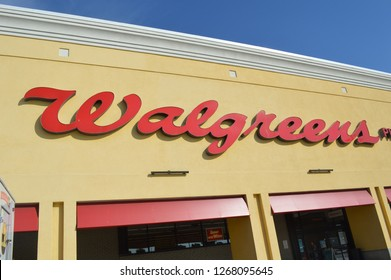 Knoxville,Tennesee/USA November  November 21,2017. Walgreens store exterior and sign. Walgreens is the largest drug retailing chain in the United States