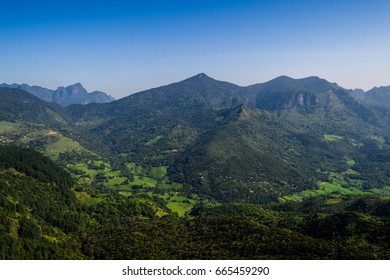 The Knuckles Mountain Range lies in central Sri Lanka, The range takes its name from a series of recumbent folds and peaks in the west of the massif which resemble the knuckles.