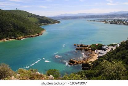 Knysna Lagoon in the Garden Route, South Africa