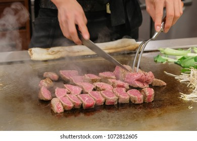 The Kobe beef is the famous beef steak in japan. The customer can enjoy steak cooking show in many tradition steak restaurant in Kobe,Japan.