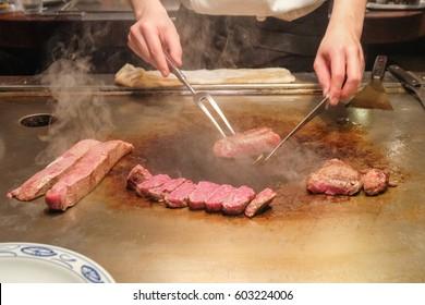 The Kobe beef steak recipe is the famous menu in Kobe , Japan. This recipe also called teppanyaki steak.