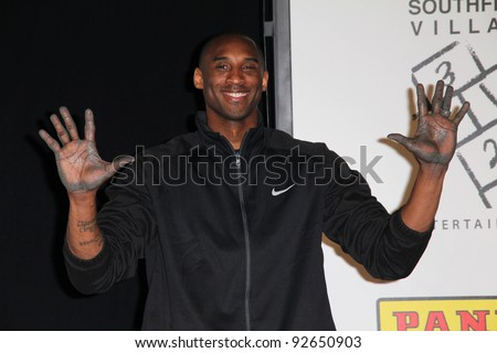 Kobe Bryant at the Kobe Bryant Hand and Footprint Ceremony, Chinese Theater, Hollywood, CA. 02-19-11