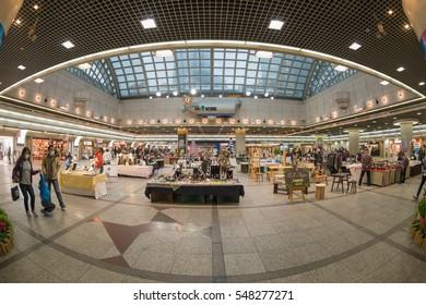 KOBE, JAPAN- DEC 4 : People shop at Kobe Harborland Umie shopping center on Dec 4, 2016 in Kobe, Kansai, Japan.