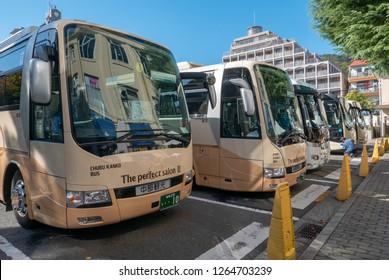 KOBE, JAPAN-NOVEMBER 10, 2018: Kobe tourist bus in Kobe, Japan.