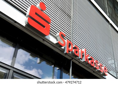 KOBLENZ, GERMANY - September 4, 2016: logo of the German Sparkasse (Savings Bank). Based on OECD studies, the German public banking system had a share of 40% of total banking assets in Germany.