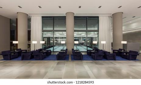 Kocaeli, Turkey 2014-02-02 Modern Hotel Design in industrial area