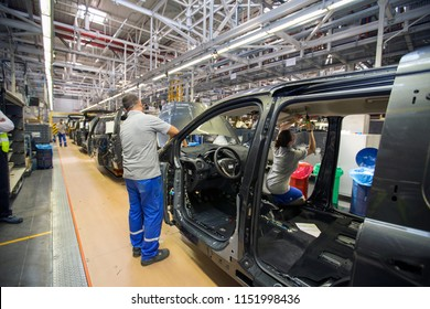 KOCAELI, TURKEY- JULY 15, 2016 :The automotive industry in Turkey plays an important role in the manufacturing sector of the Turkish economy.