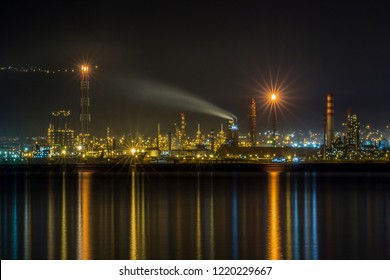 Kocaeli / Turkey -  Tupras Oil Rafinery - View from Degirmendere Coast