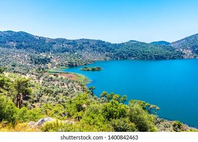 Kocagol Lake in Dalaman Peninsula in Turkey