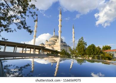 Kocatepe Mosque in Ankara, the Capital City of Republic of Turkey