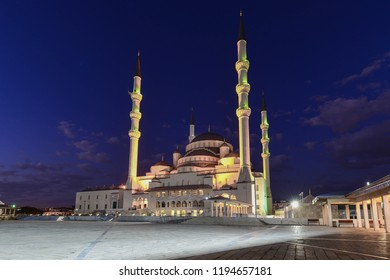 Kocatepe Mosque at night - Ankara, Turkey