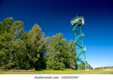 Kochanovka watch tower is located near Svencionys, in Sirveta regional park, Lithuania. Magnetic film container is attached to constuction of tower, where viewing platform rises to 26 meters high.