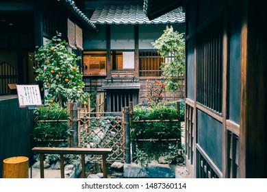 Kochi, Shikoku, Japan - April 20, 2019 : Japanese traditional house at Ryomaden Bakumatsu patriot Shachu