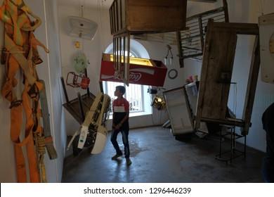 Kochi,Kerala/India-Jan-1-2019:  Various forms of art exhibits at the Cochin Biennale,
