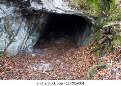 Koda cave (Kodská jeskyně) in Czech Karst (Český kras), Central Bohemia, Czech republic. Inhabited since Middle Paleolithic.