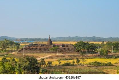 Koe Thaung pagoda at Mrauk U, Myanmar