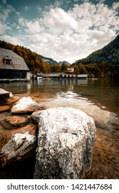 Koenigssee lake in germany view from the boat
