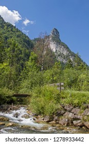 The Kofel in the Ammergau Alps, with its bold mountain form, is the landmark of the Passions venue Oberammergau
