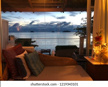 Koh Chang Cliff Beach Resort, Trat, Thailand - Oct, 22 Oct, 2018 :Bed room sea view