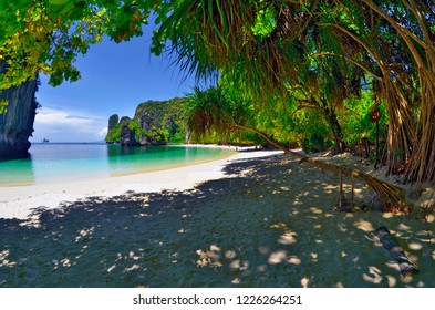 Koh Hong, Thailand - April 30, 2015: Pelay Beach on the East side of the island.