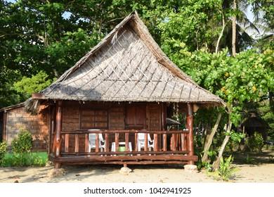 Koh Jum, wooden beach bungalow, Thailand