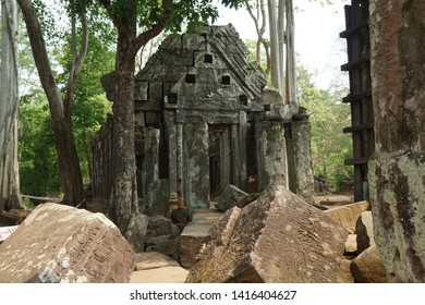 Koh Ker is a 10th century temple, a former capital of the Khmer Empire, Koh Ker the main structure Temple is a 7-tiered pyramid, Prasat Krahom, meaning red temple, is known for its sandstone carvings - Shutterstock ID 1416404627