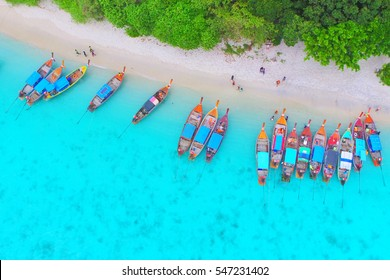 Koh Lipe, Andaman sea, Thailand, view from a high angle.