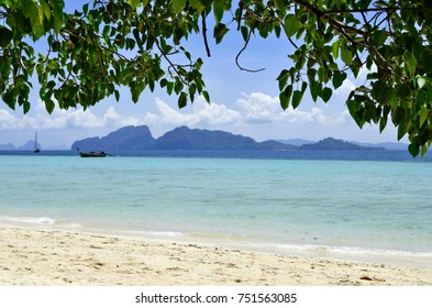 Koh Muk seen from Koh Kradan in the Andaman Sea