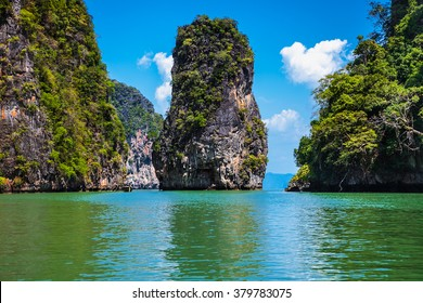 Koh Panak geological formation island in Phang Nga bay. Tailand.