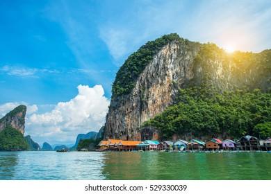 Koh Panyee, Fisherman village, Phang Nga, Ao Phang Nga National Park,Southern of Thailand