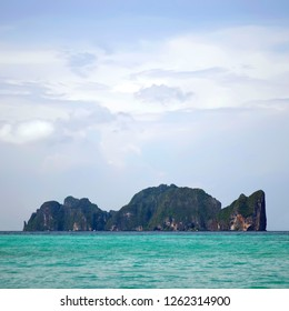 Koh Phi Phi Leh seen from from Koh Phi Phi Don in the Andaman Sea, Krabi province, Thailand