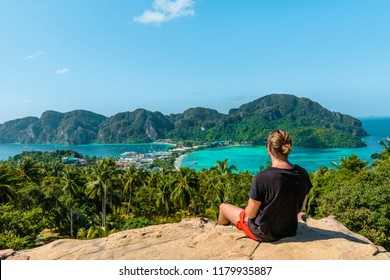 Koh Phi Phi, Thailand - 20 may 2017: Viewpoint on Phi Phi Island.