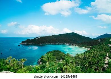 Koh Tao Chalok Baan Kao Bay from John Suwan View Point in Thailand