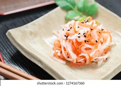 Kohaku-namasu, japanese food
