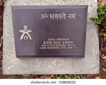 Kohima, India - May 12, 2014: World War Cemetery is a memorial dedicated to soldiers of the 2nd British Division of the Allied Forces who died in the Second World War at Kohima, Nagaland.