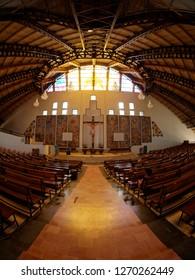 Kohima, Nagaland, India-12/07/18, Mary Help of Christians Cathedral, Kohima