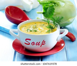 Kohlrabi cream soup.