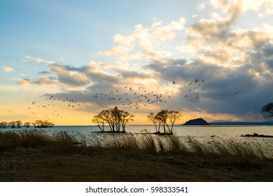 Kohoku area at Biwa lake,Nagahama city,Shiga,tourism of japan