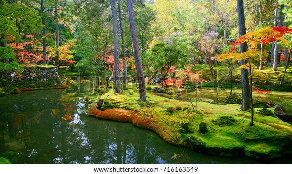 Koke-dera(Moss Temple) is one of the most aptly named temples in Kyoto. It's a colorful Autumn paradise than can only be visited by application.the perfect zen and Sadness style only in there.